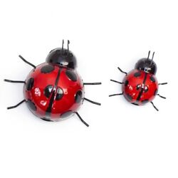Fountasia Set of 2 Ladybird Garden Wall Art Decoration Outdoor Fence Shed Patio