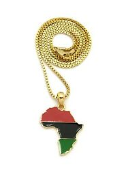 Micro Pan Color Africa Map Shape Pendant 24