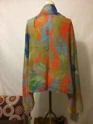 Bloomingdale's LILY AND LIONEL silk & wool - used - BEAUTIFUL Colors!
