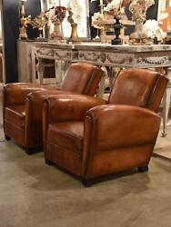 Pair of 1950's French armchairs with double plaquette detail - club chairs