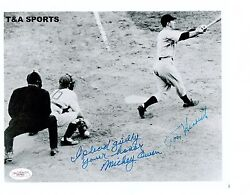 TOMMY HENRICH MICKEY OWEN SIGNED 8X10 41 WS I PLEAD GUILTY YOUR HONOR INSCRIBED