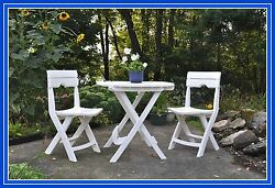 Cafe Bistro Set Quick Fold Up Table Chairs Picnic Patio Yard Garden Sale