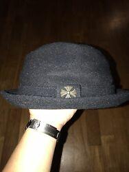 Authentic Chrome Hearts Maltese Cross Wool Fedora Hat Sz M