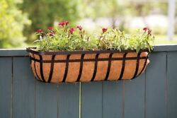 Deck Rail Planter Box Garden Pots Railing Basket Wall Window Hang Flower 30 Inch