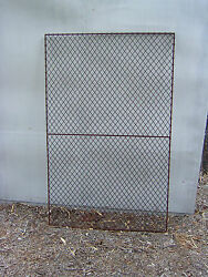 Antique  vintage industrial metal iron grilling mesh fencing panel gate