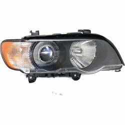HID Headlight For 2000-2003 BMW X5 Right w Bulb & White Turn Signal Light