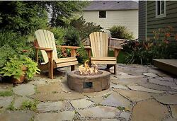 Stone Fire Pit Kit Faux Stacked Outdoor Outdoor Propane Deck Heater Ring Patio