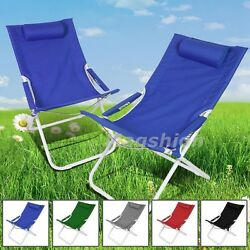 Blue Curved Chair Folding Lounge Reclining Patio Pool Beach Lightweight QTY 2pc