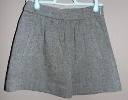 Women's J Crew Mini 100 Percent Wool Skirt PreOwned Sz 00 Great Condition Used