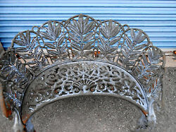 Antique Cast Iron Griffin Wing Claw Foot Garden Bench