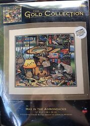 Dimensions Gold Collection Max In The Adirondacks Cat Cross Stitch Kit Wysocki