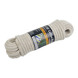 NEW 50#x27; ft Solid Braided COTTON ROPE 1 2quot; Thick 110 lbs Load Boat Camping $15.95
