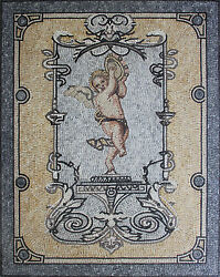 Cupid Wall Carpet Vertical Tile Decor Mural 48