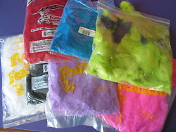 A2362 FEATHERS plumage and Tflats mixed colors 16 full bags 5 partial bags $40.00