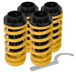 96 00 CIVIC DEL SOL YELLOW CONVERSION COILOVER SLEEVE KIT FULL ADJUSTABLE SPRING $64.19