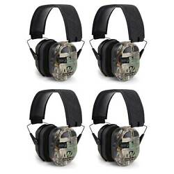 Walkers Ultimate Hunting Shooting AFT Power Muff Quads Realtree Camo 4 Pack $335.99