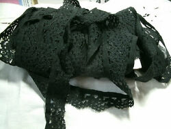 30 yards BLACK STRETCH LACE craft sewing supplies 78