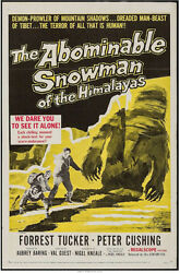 ABOMINABLE SNOWMAN OF THE HIMALAYAS VINTAGE MOVIE POSTER ONE SHE
