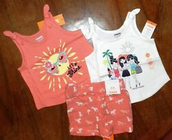 Orange Short Set Gymboree 3pc Mix n Match Summer Girl Toddler sz 12 18 month New $20.99