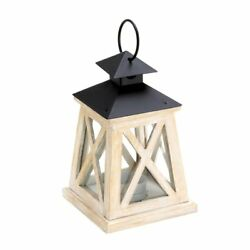 Wooden Candle Lantern Glass Lantern Candle Holder For Outdoor Wedding Decor