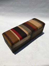 Upholstered Crate Storage Bench - 70s Stripe