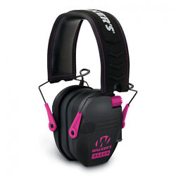 Walker#x27;s Game Ear Black Pink Electronic Ear Muffs Shooting Hearing Protection $59.99