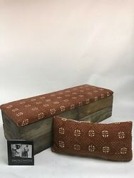 Upholstered Crate Storage Bench - Retro Funk