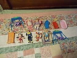 3 Cabbage Patch Small Dolls Sprouts Furniture 4 Other Figures Dolls