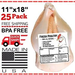 POULTRY SHRINK BAGS 11quot; X 18quot; POULTRY PROCESSING FREEZER SAVER MADE IN 🇺🇸 $21.00