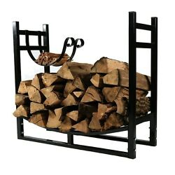 Log Wood Rack Firewood Holder Storage Carrier Outdoor Small Logs Fireplace