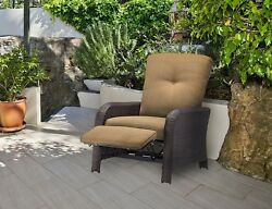Patio Furniture Clearance Recliner Wicker Chair Outdoor Resin Cushioned Luxury