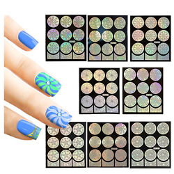 Winstonia 48 Nail Vinyls Stencil Sticker Set Easy French Tip Manicure Decal Kit