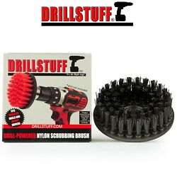 Black Ultra Stiff Drill Brush For Stone CleaningPaint Striping and Outdoor Use $9.69