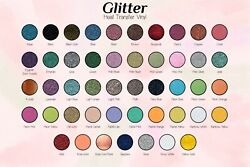 Glitter Heat Transfer Vinyl Full Roll 10