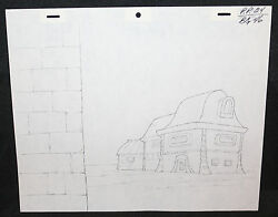 She-Ra Princess of Power Pencil Animation Artwork - P.P.24 BG 46 - Building