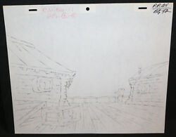 She-Ra Princess of Power Pencil Animation Artwork - P.P.24 BG 42 - Sea Building
