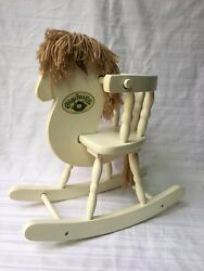Vintage Cabbage Patch Kids Doll Rocking Horse Chair Doll Bear Furniture