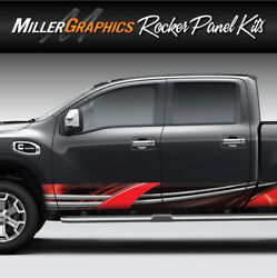 Truck Graphic #105 Rocker Panel Decal Wrap Kit Truck SUV - 2 Sizes 5 Colors