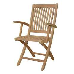 Anderson Teak Tropico Outdoor Folding Dining Chair (Set of 2) CHF-105