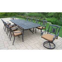 Oakland Living Victoria Outdoor 11-Piece Extendable Table Dining Set