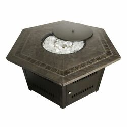 AZ Patio Heaters Hexagon Fire Pit with Slate Table WLF-HEX