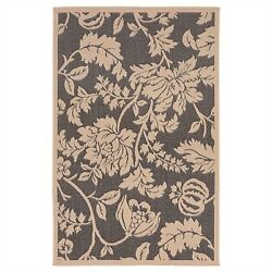 Trans Ocean Terrace Charcoal Floral Outdoor Rug TERR8177977 1-ft 11-in x 7-ft