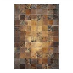 Couristan Chalet Tile Brown Area Rug 03481579094134T 9-ft 4-in x 13-ft 4-in