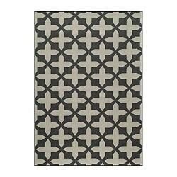 Momeni Baja Charcoal Outdoor Rug BAJA0BAJ12CHR3B57 3-ft 11-in x 5-ft 7-in