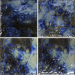 6x6 Blue Blend Porcelain Tile for Wall Backsplash Pool Bath Shower Countertops