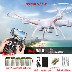 RC Drone Syma X5SW FPV RC Quadcopter Drone with Camera 2.4G 6 Axis RC Helicopter $95.00