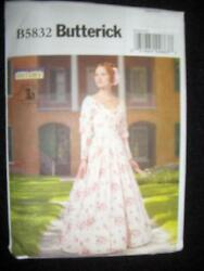Civil War Dress New Butterick Pattern 5832 A5 Sizes 6-14