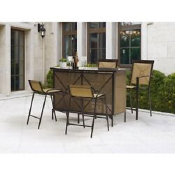 Dining Table Set Outdoor Patio Counter Height High Furniture Modern Tall 5-Piece