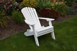 A&L Furniture Amish-Made FoldingReclining Poly Adirondack Chairs In 13 Colors!