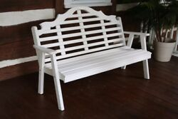 A&L Furniture Co. Amish-Made Pine Marlboro Garden Benches - 3 Sizes & 18 Colors